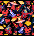 pattern lovers frogs vector image vector image