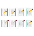 pencil checking on to do list animation sprite vector image