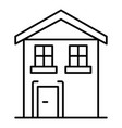pension house icon outline style vector image