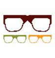 pixel glasses vector image