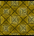 seamless abstract gold parquet pattern vector image