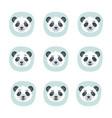set different emotions panda vector image
