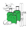 set for winter travel vector image