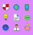 set of colored flat icons for websites and vector image vector image