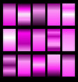 set pink gradients vector image vector image