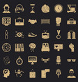 sport time icons set simple style vector image vector image