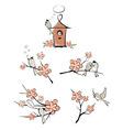 Spring birds vector image vector image