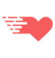 valentine heart halftone dotted icon with fast vector image vector image