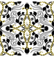 vintage arabesque style floral seamless pattern vector image vector image