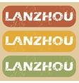 Vintage Lanzhou stamp set vector image vector image