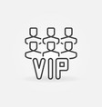 vip people outline icon or symbol vector image