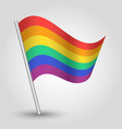 waving simple triangle rainbow flag vector image