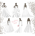 wedding dress set vector image