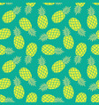 pineapple background summer colorful tropical vector image