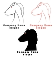 three characters in the form of a horse vector image
