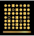Set of retro vintage gold badges and labels vector image