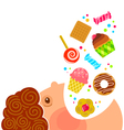 eating sweets vector image