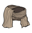 a winter knitted scarf vector image vector image