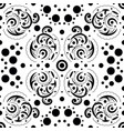 abstract seamless pattern with swirls and dots vector image