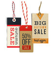 Autumn sale tags in vintage style