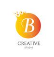 b letter logo design b icon colorful and modern vector image