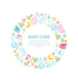 bacare banner template round frame vector image