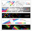 Banners for web collection vector image vector image