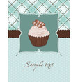 beautiful cupcake background vector image