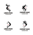 beauty woman face logo vector image vector image