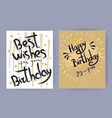 best wishes for your birthday vector image vector image