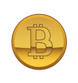 bitcoin golden currency symbol vector image vector image