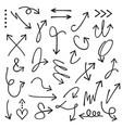 black curvy and odd shape direction arrows set vector image vector image
