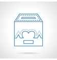 Charity box flat line icon vector image vector image