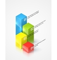 Colored graphs infographic template vector image vector image