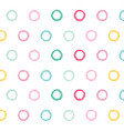 colorful circles pattern design background vector image vector image