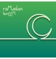 Concept card for ramadan kareem celebration vector image