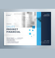 creative business blue brochure cover template vector image vector image