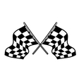 Crossed motor sport flags vector image vector image
