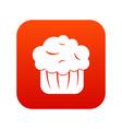 cupcake icon digital red vector image vector image