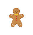 cute cartoon gingerbread man vector image