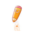cute cartoon pencil character with eyes and eraser vector image