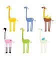 cute giraffe seamless vector image vector image
