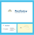 cutter logo design with tagline front and back vector image vector image