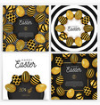 easter egg banner set card collection vector image vector image