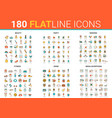 flat thin line icons set vector image vector image
