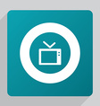 flat tv icon vector image vector image