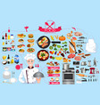 food infographics element vector image vector image