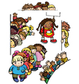 fun kids for your design vector image