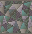 green color cloth triangles seamless pattern vector image vector image