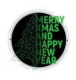 green polygonal christmas tree with text for vector image